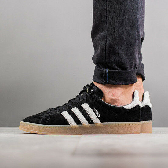 Mens Adidas Campus 80's Sneakers New, Black Pony Hair Jeremy Scott BZ0071
