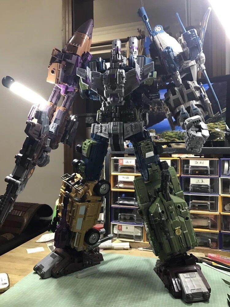 Transformers Toy KO OVERSIZED Warbotron Bruticus G1 Combiner Jinbao