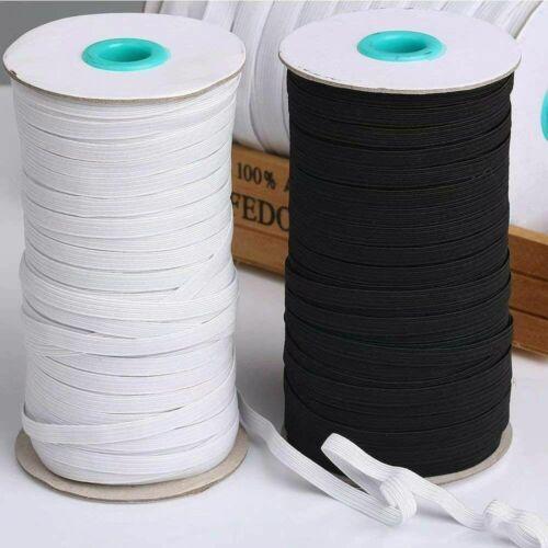 180m 3//6MM Gummiband Standardelastik Gummilitze weiß kochfest Kordel Gummizug US