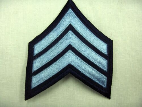 SERGEANT CHEVRON PATCH IRON  OR SAW ON MANY COLORS