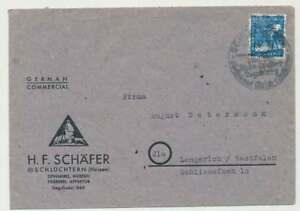 Bizone-Nr-43-II-EF-Firmenbrief-mit-SST-SCHLUCHTERN-n-LENGERICH-48066