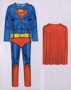 Superman-Kostuem-Superheld-20-Gr-M-48-50-2-teilig-Fasching-Karneval-Verkleidet