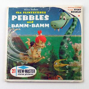 Vintage View-Master Reels Set Packet B520 PEBBLES & BAMM-BAMM The Flintstones
