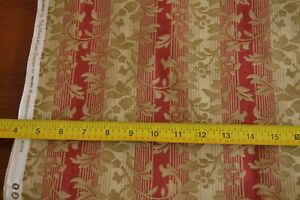 By-1-2-Yd-Red-amp-Olive-Striped-Quilting-Cotton-Moda-Wiscasset-14641-13-M8461