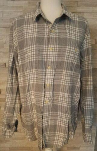 J. Crew Men's Flannel Button Up Plaid Shirt Gray W