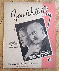 Vintage Sheet Music  You Walk By  By Mary amp Percy Honri - Banbury, United Kingdom - Vintage Sheet Music  You Walk By  By Mary amp Percy Honri - Banbury, United Kingdom