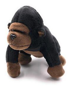 Peluche-Animal-de-Peluche-Tela-Animal-Gorila-de-Pie-Mono-16-CM