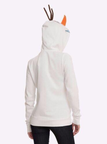 DISNEY FROZEN OLAF SNOWMAN ZIP HOODIE COSPLAY HALLOWEEN COSTUME HOODED SZ XS S M