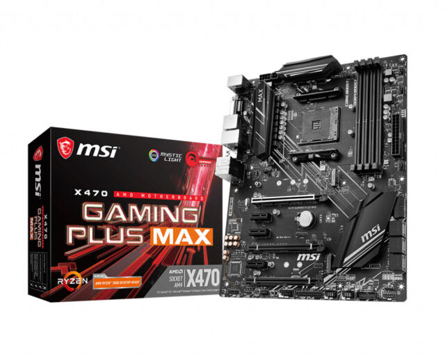 Jeu MSI' Plus Max AM4 AMD X470 DDR4-SDRAM Motherboard