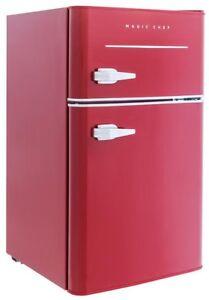 b9f15f57dd9 Retro Style Mini Refrigerator 3.2 cu. ft. 2 Door Red Office Dorm ...
