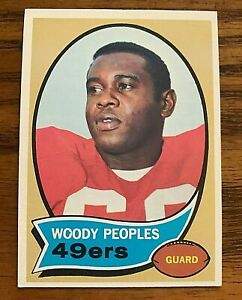 1970 Topps #207 Woody Peoples RC - 49ers