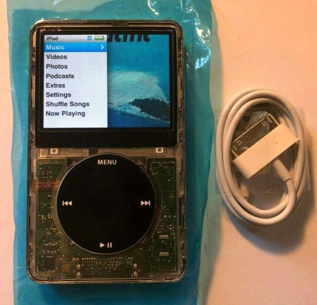 Apple iPod Classic 160GB 7th Gen Black Transparent - Custom Refurb! New Battery!