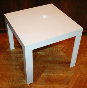 Image Is Loading Vintage SYROCO PARSONS Coffee Side Table White Plastic