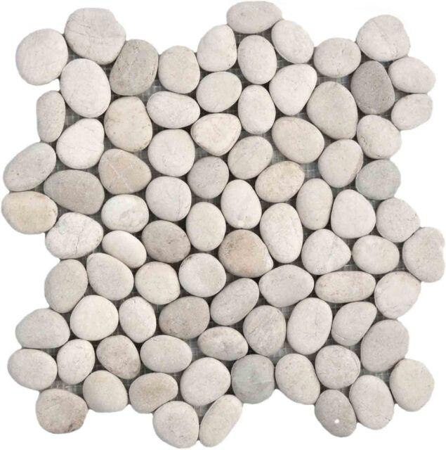 Sample White Pebble Natural Stone wall / floor tiles perfect for shower floors