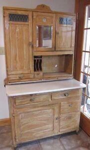 Antique 1920s Hoosier Cabinet Clock Iron Board Bread Board File ...
