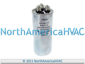 Details about 35/5 35+5 MFD 440V ROUND Dual Run Capacitor FITS TRANE  CPT00977 CPT977 CPT0977