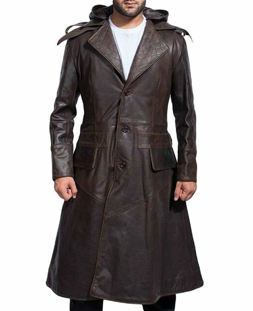 Assassins Creed Syndicate Jacob Frye S Leather Trench Coat Cosplay