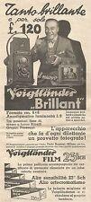 W7132 VOIGTLANDER - Brillant - Pubblicità del 1932 - Vintage advertising