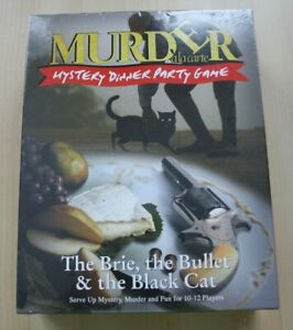 The-Brie-the-Bullet-amp-the-Black-Cat-Murder-Mystery-Dinner-Party-Game-NEW-SEALED