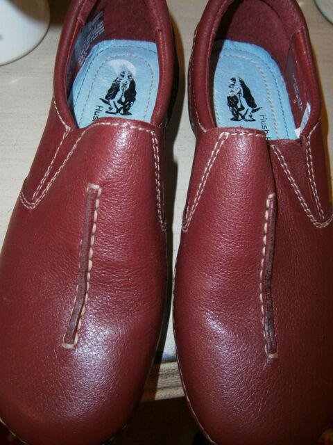 Scarpe da Donna Hush Puppies, piatta, cuoio, rosso scuro, taglia 3, nuovo con etichetta