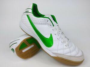 Mejorar Lamer Elucidación  Nike Mens Rare Tiempo Mystic IV IC 454333-130 White Green Soccer Shoes Size  11.5 | eBay