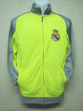 REAL MADRID - Men's Track Top Jacket by Rhinox - Neon Green & Gray - Size M
