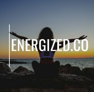 Energized.co Great Brandable One Word Domain Energized Energy Fitness Yoga