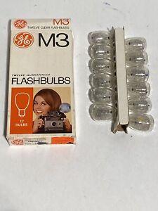 Vintage GE M3 Cera Flashbulbs Bulbs Pack of 12 CB