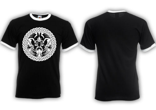 Hugin /& Munin M2 Ringer Shirt Viking Warriors,Germanen,Odin,Thor,Kult