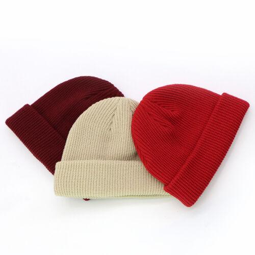 1PC Unisex Men/&Women Beanie Hat Warm Ribbed Winter Turn Ski Fisherman Docker Hat