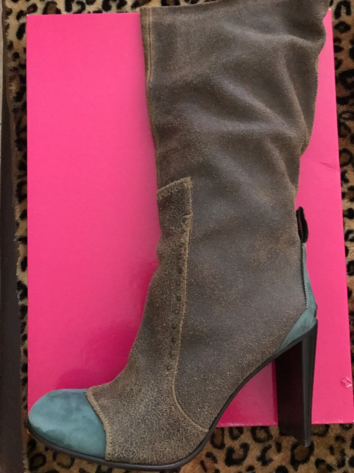 New Materia Prima By Gofferdo Fantini Distressed Leather Boots 41 Made In