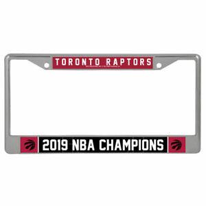 Toronto Raptors 2019 Nba Champions License Plate Metal