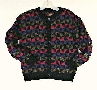 Cozy Grandpa Cardigan Wool Sweater Women S M 8 10 12 Preppy Vintage Warm USA