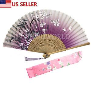 100% True 2019 Handmade Fan Bamboo Wood Hand Fan Folding Pocket Fan Birthday Souvenir Gift Womens Dance Handmade Folding Fandecoration Party Favors Festive & Party Supplies