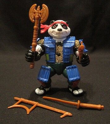 TMNT 1990 Panda Khan 100% Complete Weapons Playmate Toys
