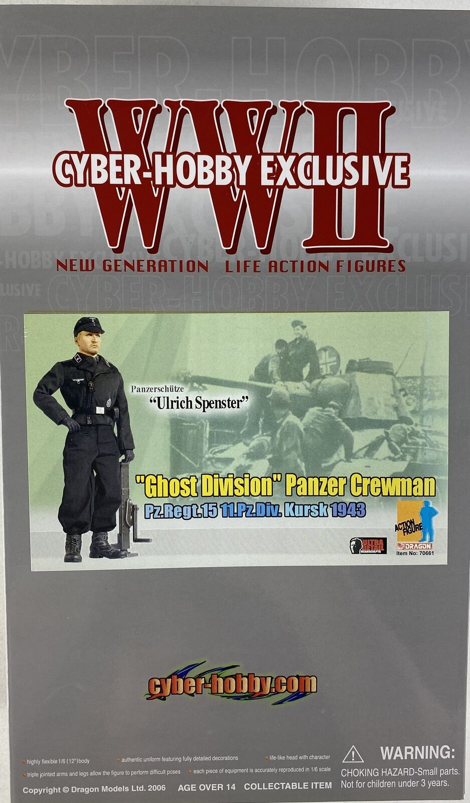 DRAGON CYBER-HOBBY EXCLUSIVE WWII Ulrich Spenster Ghost Division 70661 Figure