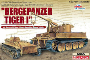 DRAGON 6865 Bergepanzer Tiger I et Borgward 1/35