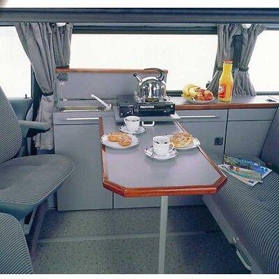 RV adjustable hinged, TABLE SLIDE RAIL kit clip on - VW campervan caravan boat