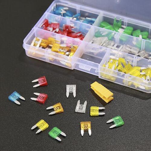 120pcs//Set Assortment Mini Blade Fuse Auto Car Motorcycle SUV FUSES Kit with Box