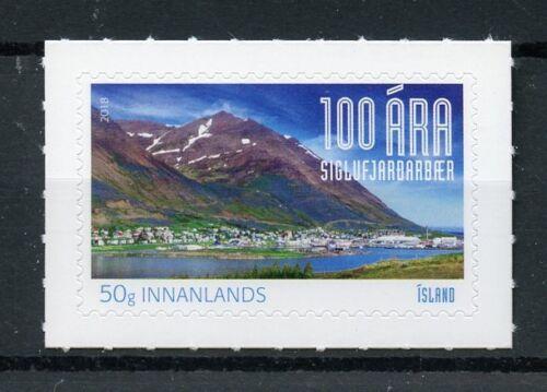 Iceland 2018 MNH Siglufjordur 100th Anniv 1v S/A Set Mountains Tourism Stamps