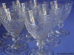 Vente Pas Cher 7 Anciens Verres A Aperitif En Cristal De Saint Louis Modele Lothaire 10 Cm