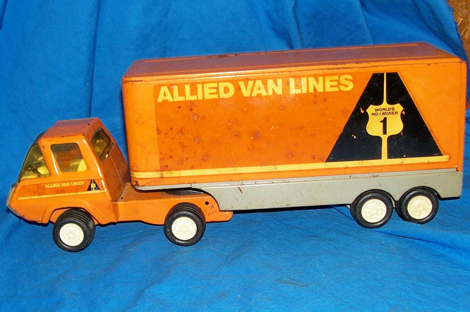 Vintage Tonka Toy Allied Van Lines empresa de de de mudanzas Co.. Tractor Trailer Camión Antiguo 1ae83c