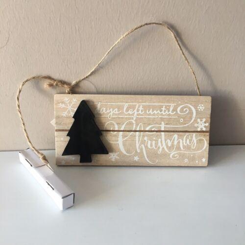 Christmas Countdown Plaque Days Left Until Christmas With Chalk Advent Calendar