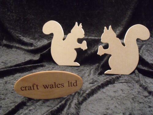 Mdf écureuils formes 6mm lot de 5