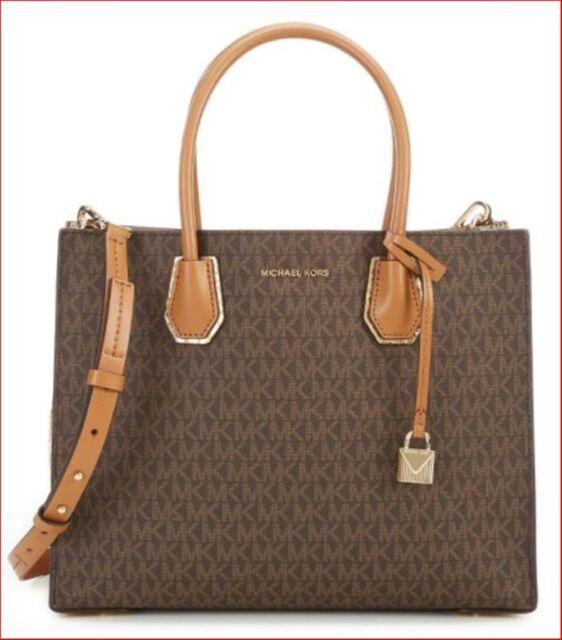034030900203b Michael Kors Mercer Studio Large Convertible Brown Gold Tote Bag for ...