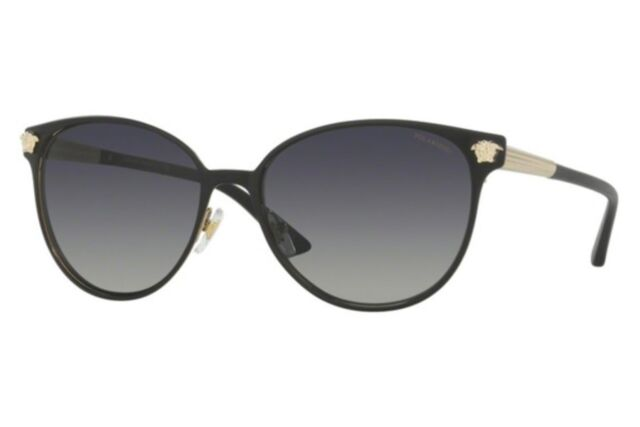 ab2496dcab8 NWT Versace Sunglasses VE 2168 1377T3 Polarized Black Gold   Gradient Gray  57 mm