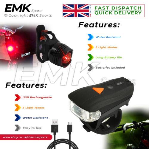 Super Bright Head light /& Tail Light Set Water Resistant High Intensity LEDs