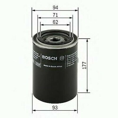 Bosch 0451203002 Filtro de Aceite P3002