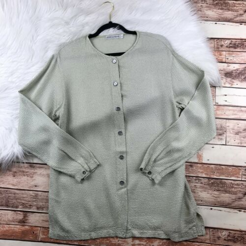 Cut Loose Large Blouse Womens Pistachio Green Butt