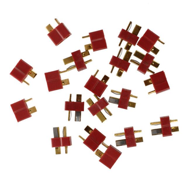 SODIAL (R) 10 Paar Deans Rutschfester T-Stecker Maennliche + Weibliche RC ESC OE